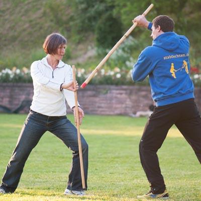 Personal Training mit Stabfechten